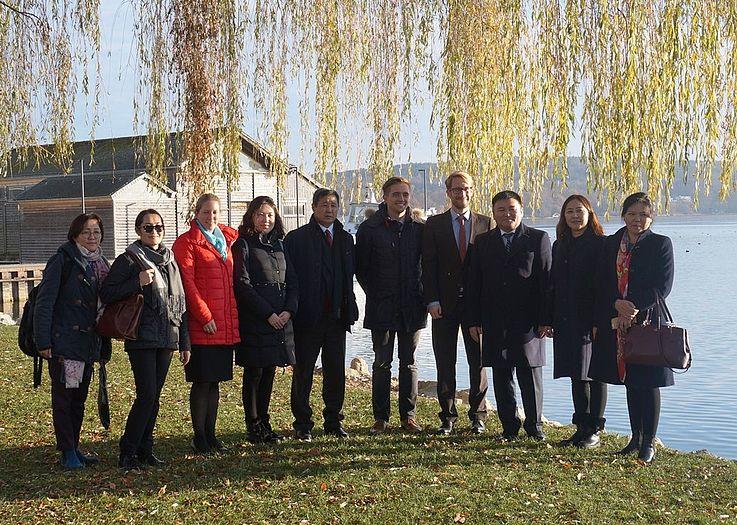 Die Richterdelegation besucht das Landratsamt Starnberg