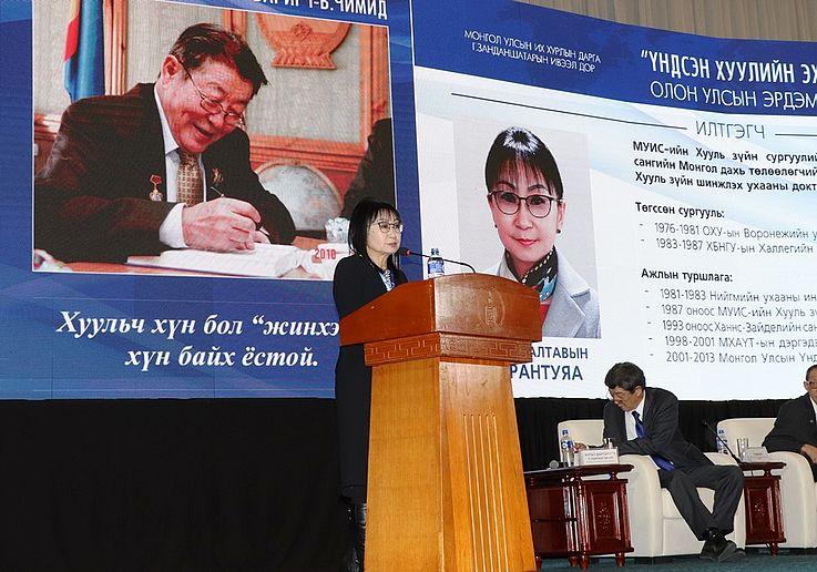 B.Chimid – Vater der demokratischen Verfassung der Mongolei