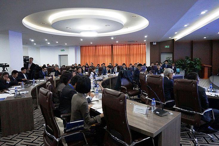 An der Konferenz nahmen Vertreter der Justiz, Exekutive und Legislative des Landes sowie Wissenschaftler aus Russland, Südkorea, Japan, Deutschland und Mongolei teil