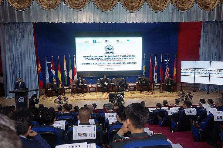 Vertreter der zuständigen Ministerien, Grenzschutzbehörden, diplomatischer Vertretung der Russischen Föderation, VR China, Vietnam und USA tauschten Meinungen zu aktuellen Grenzschutzproblemen aus